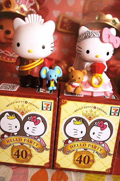 Hong Kong 7-11 магазин Hello Kitty Sanrio 40 годовщина Дня святого Валентина свадебные украшения принца и принцессы