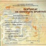 Certificat de identitate sportiva Reşiţa Locomotives