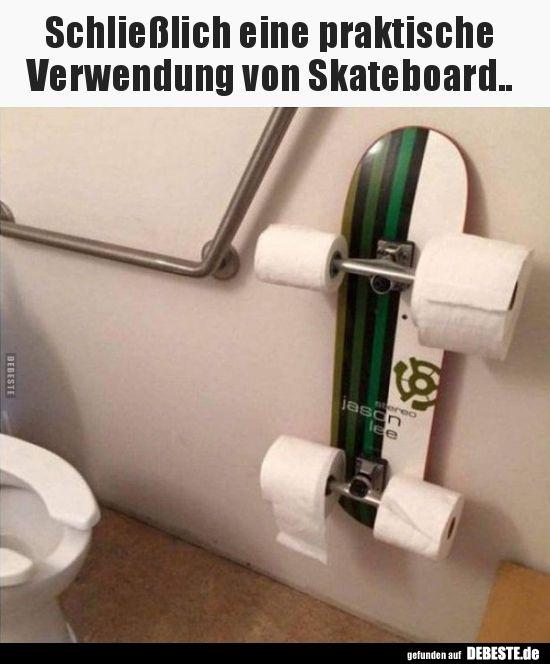 Schließlich eine praktische Verwendung von Skateboard.. | Lustige Bilder, Sprüche, Witze, echt lustig