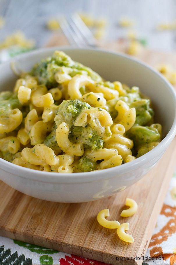 Tuscan Broccoli Mac and Cheese on Taste and Tell