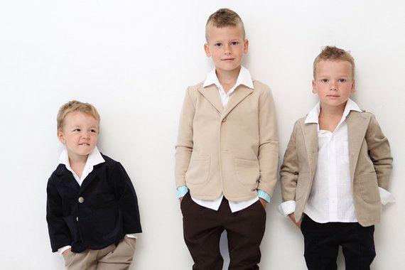 Boys blazer Boys Wedding outfit Baptism Ring bearer by mimiikids