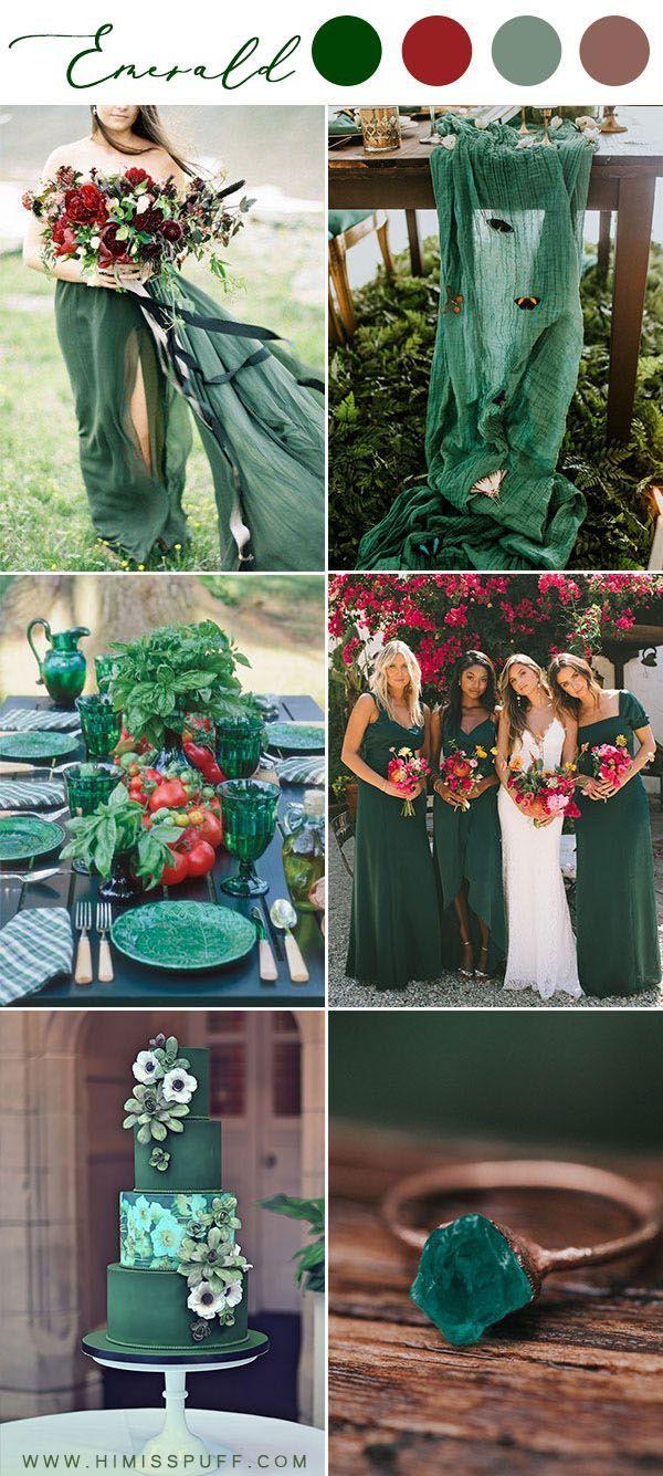 Couleur Vert Emeraude Foncé 14 couleurs et palettes de mariage vert émeraude vert foncé
