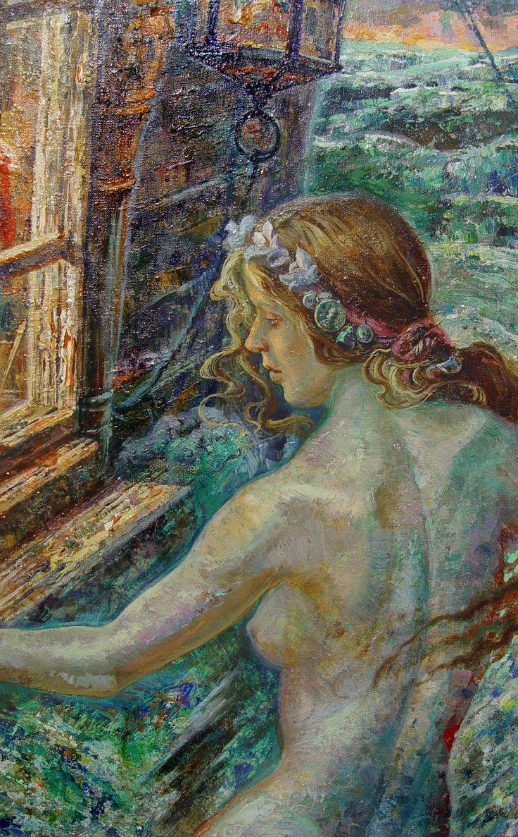 Русалочка / Фрагмент #DmitryKostylew #painting #ДмитрийКостылев #Живопись #Mermaid #Русалка