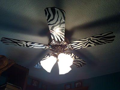 Wallpapered Ceiling Fan