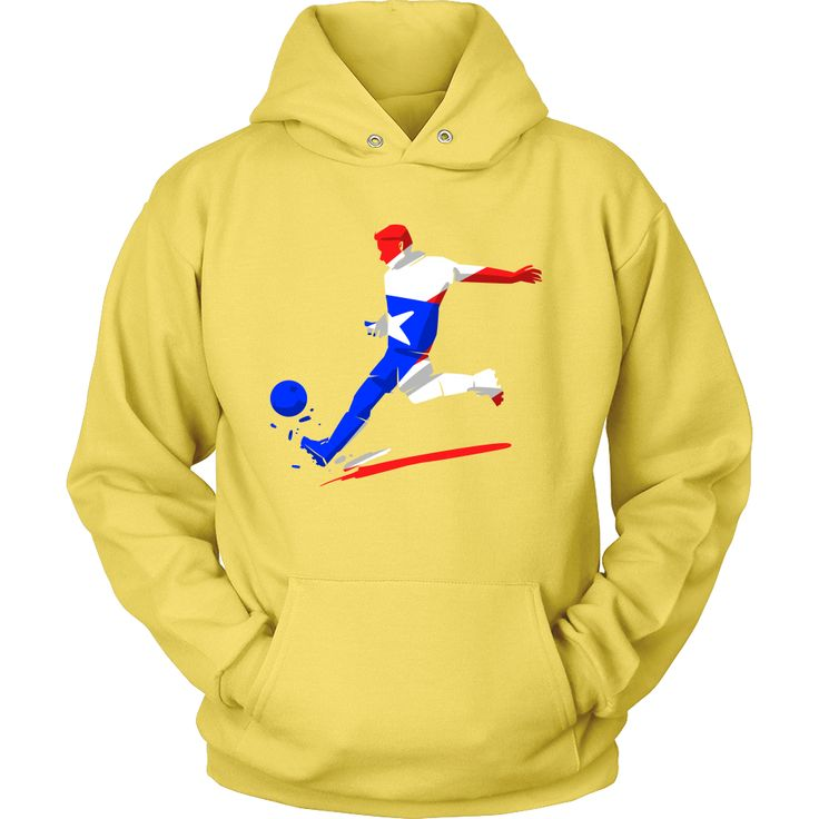 Colorful Soccer Flag Puerto Rico Hoodie