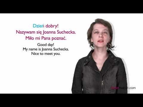Learn Polish - How to Introduce Yourself in Polish. #Poland #Krakow #Glasgow Learn Polish with PolishPod101.com