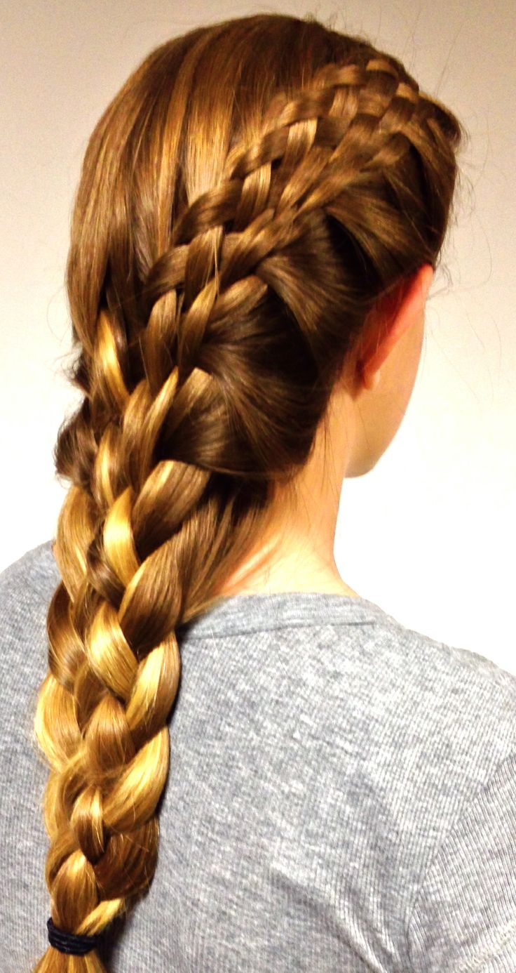 Eight Strand Side Braid Into Eight Strand Back Braid In