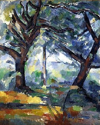 Les grands arbres (1903) Huile sur toile (81 x 65) Paul Cézanne
