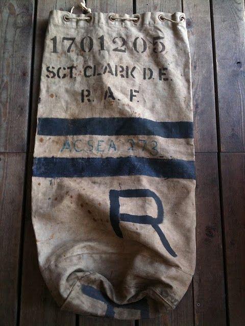 vintage nautical buoy sack.