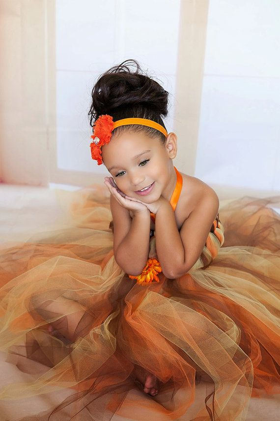 Orange Brown and Yellow Fall Tutu by PrincessLondonsTutus on Etsy, $45.00