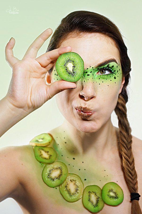 the Kiwi (extreme make up) by TheBizarreBirdcage