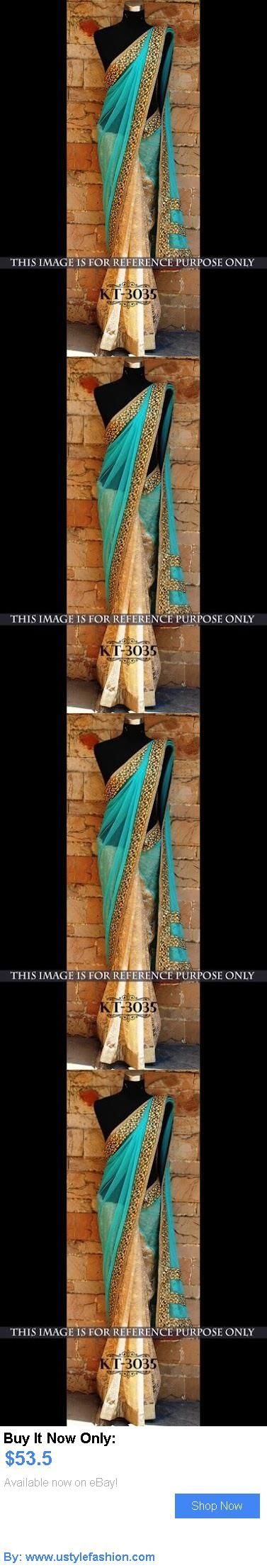 Cultural and ethnic clothing: Designer Party Wear Wedding Indian Pakistani Saree Sari Bollywood Ethnic Lehenga BUY IT NOW ONLY: $53.5 #ustylefashionCulturalandethnicclothing OR #ustylefashion