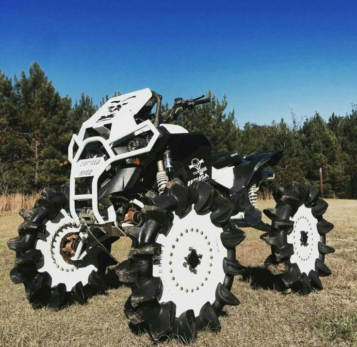 Awesome 4 wheeler but the tires are odd.