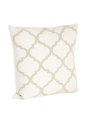 61% OFF Saro Lifestyle Vanilla Moroccan Design Beaded Pillow