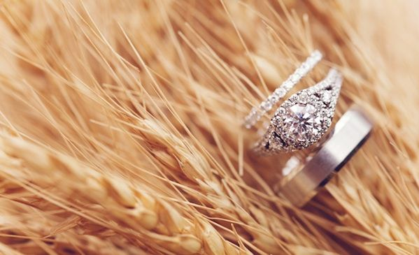 Cutest country wedding ever! & I LOVE that wedding band!
