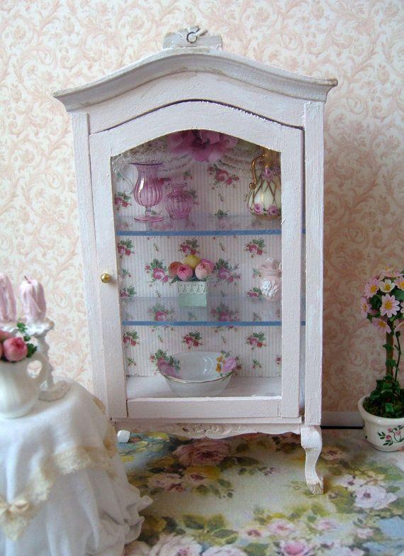 Shabby Chic Elegant Cabinet by clarabellasminis on Etsy, $38.00
