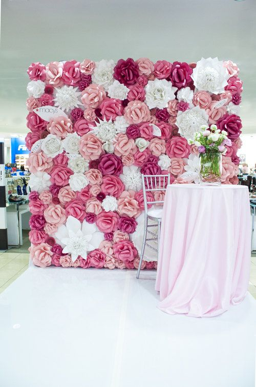 Paper Flower Wall 8ft x 8ft Extra Large Paper Flowers Decoration Photo Backdrop…