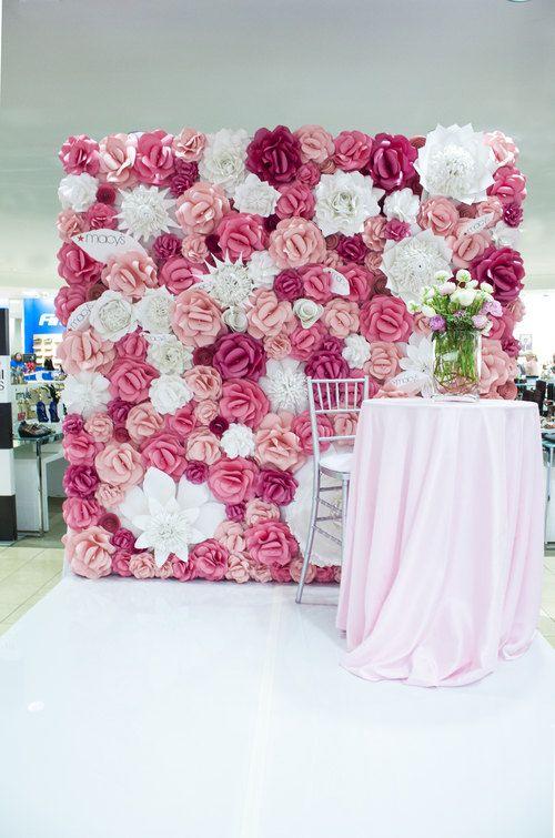 25 best ideas about paper flower wall on pinterest. Black Bedroom Furniture Sets. Home Design Ideas
