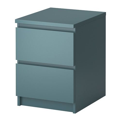MALM Chest with 2 drawers IKEA Can also be used as a nightstand. Smooth running drawers with pull-out stop. Extra roomy drawers.