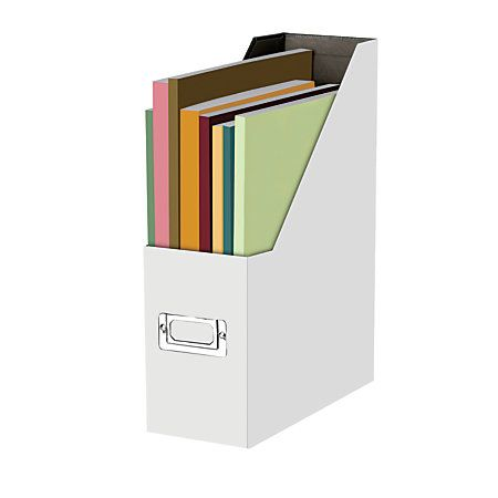 Snap-N-Store® 50% Recycled Magazine File, Letter Size, White