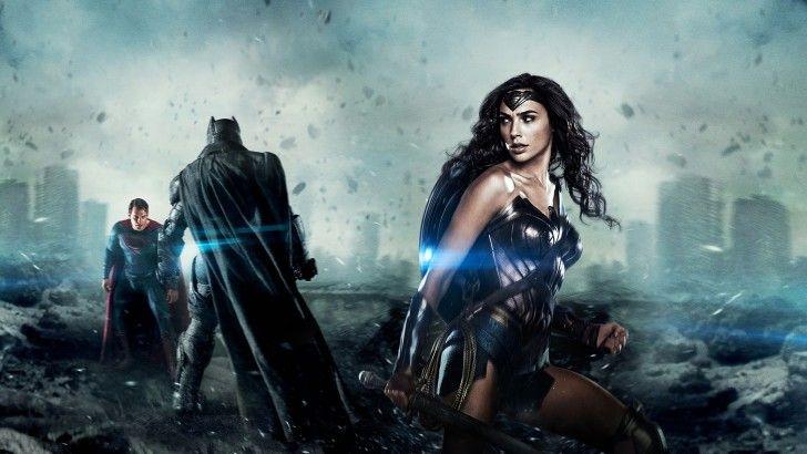 Download BvS Wallpaper Wonder Woman Batman and Superman 1920x1080