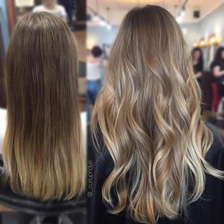 Andraya Piazza (@_curlupndye) Balayage dark blonde