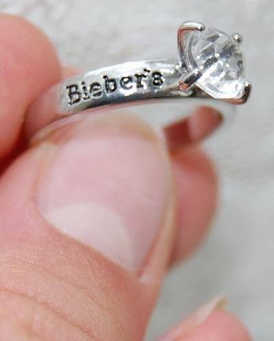 Justin Bieber ring.