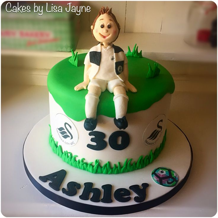 Swansea city football club inspired cake