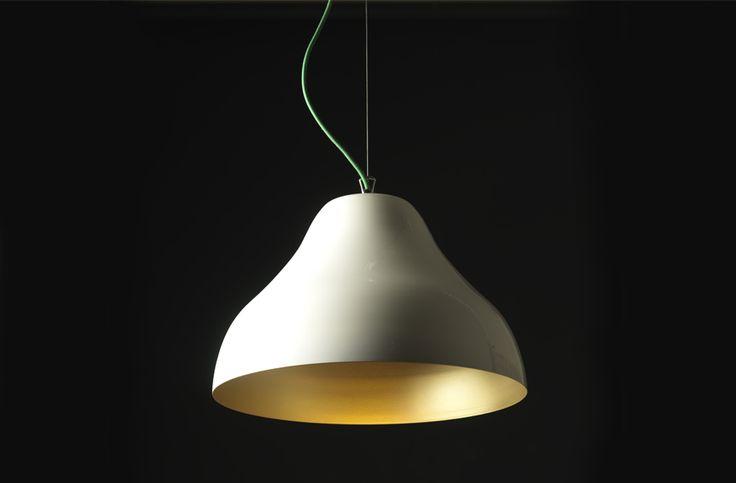 Ottone, handturned brass lamp by Zpstudio Tools.