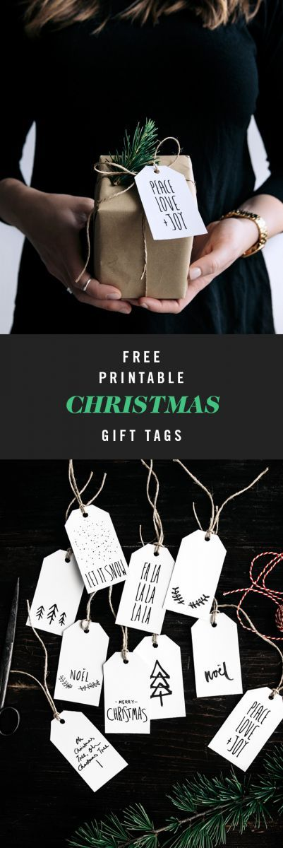 Free Christmas Gift Tags  |  Gather & Feast
