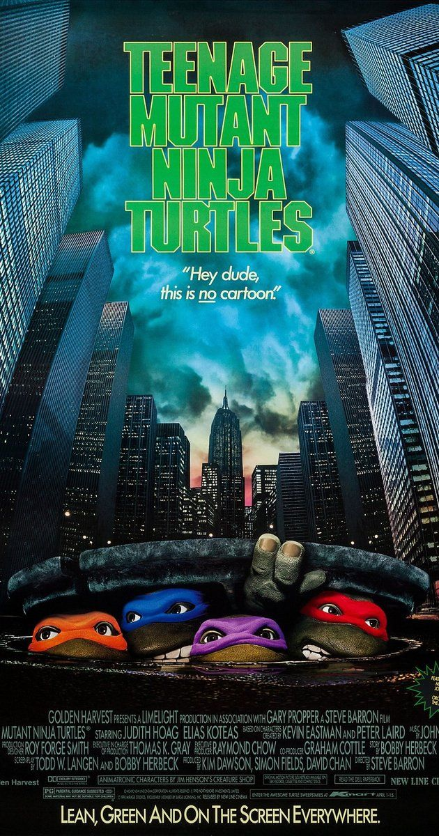 Directed by Steve Barron.  With Judith Hoag, Elias Koteas, Josh Pais, David Forman. A group of mutated turtle warriors must emerge from the shadows to protect New York City from an uprising criminal gang of ninjas.