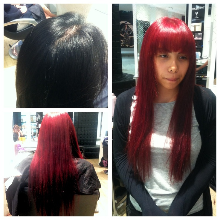 Colour correction - Black to vibrant Red by Khalia