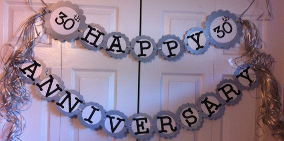 30th Anniversary Party Decorations Personalization by FromBeths