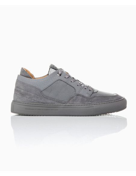 Android Homme - Omega 3M Python Leather Trainers - Silver