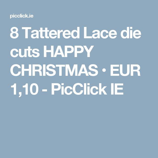 Tattered lace large lavish pointsettia die cut christmas card ...