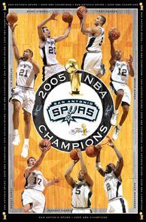 San Antonio Spurs 2005 NBA Champions Commemorative Poster - Costacos Sports