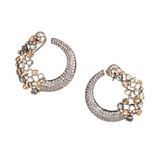 Serendipity Earrings  Round large cubic zirconia setting  silver,rose,gold
