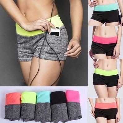 Women Sport Shorts Yoga Fitness Running Short Pants Outdoor Workout Elastic Summer Sports Female Shorts