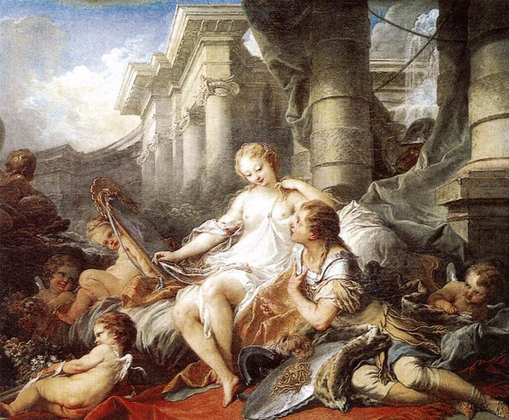 "Rinaldo e Armida (François Boucher, 1733, Musée du Louvre, Parigi) - Dalla ""Gerusalemme liberata"" di Torquato Tasso"
