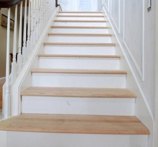 great step-by-step (ha ha) on installing treads and risers on formerly carpeted, plywood stairs. so need to do this!