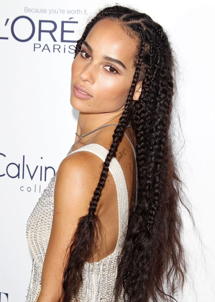 Zoe Kravitz With Braids At The Elle Women In Hollywood