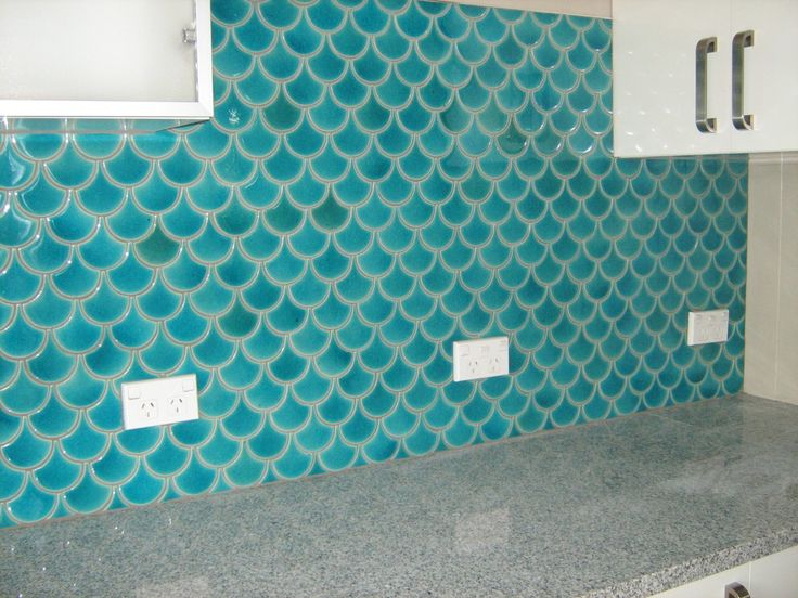 17 best images about tiles on pinterest turquoise for Fish scale tiles bathroom