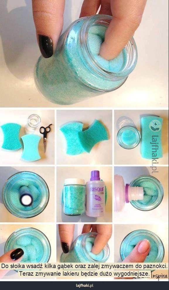 Pomysł na szybkie zmywanie paznokci - pomysły, sposoby, triki, lifehacki