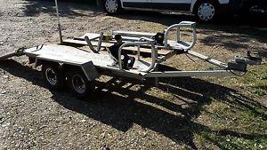 Double Motor Bike Trailer Twin Axle   eBay