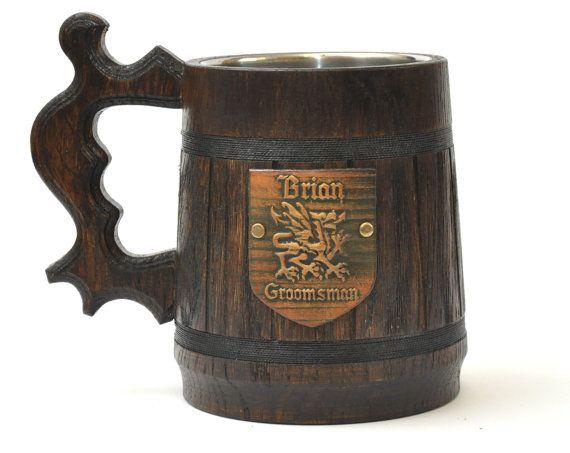 Personalized wooden beer mugs. Engraved Wooden Beer by GoodBeerMug