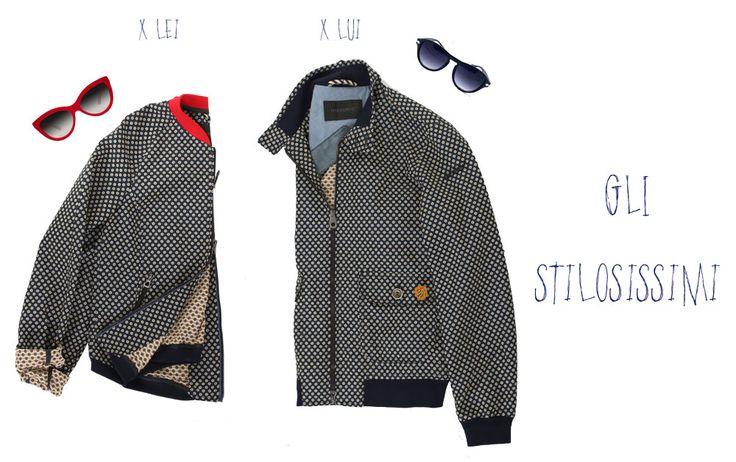 Gli stilosissimi! Per lui: Posillipo Jacket. Per Lei: Narciso Jacket. Per entrambi i capi il tessuto è un delicato jacquard microcheap leggermente memory! #historic #style #outwear #manfashion #womanfashion http://historic-brand.com/shop/3-historic/posillipo-jacket-11/ http://historic-brand.com/shop/historic-donna/narciso-jacket/