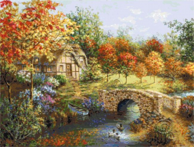 Autumn beauty landscape cross stitch kit | Yiotas XStitch