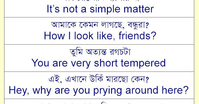 Spoken English With Bengali Know The Meaning Of Bengali And Speak English Bengali To English Dictionary S Learn English Learn English Words English Sentences