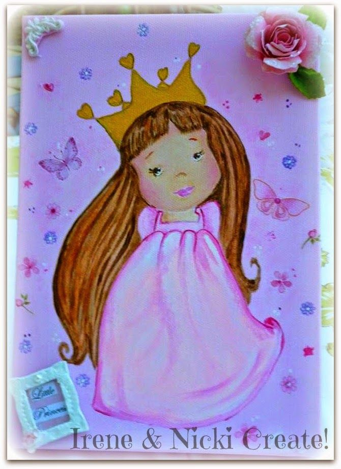 Irene & Nicki Create!  :                Little Princess Canvas Art         ...