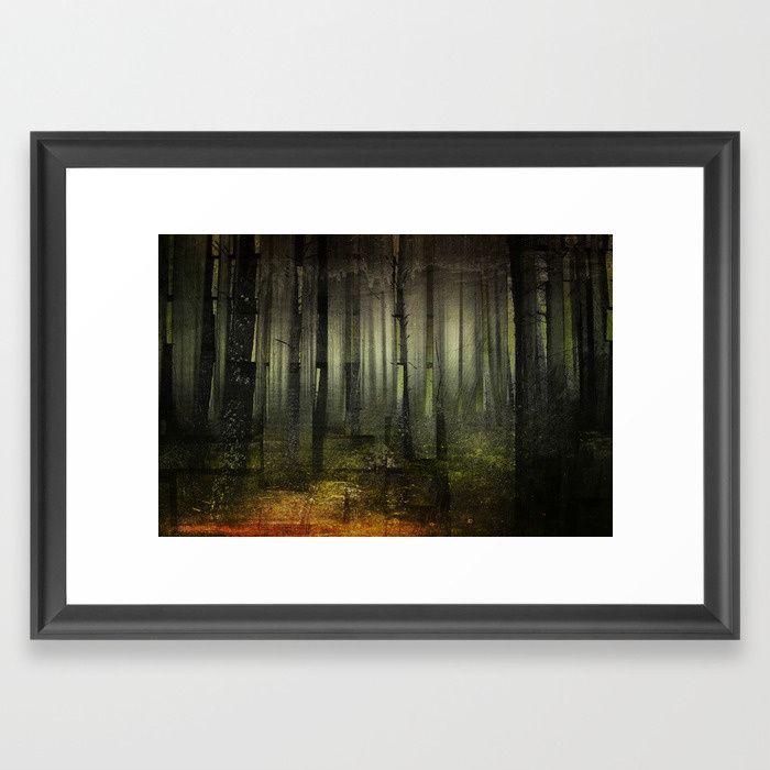 Why am I here Framed Art Print by HappyMelvin. #nature #darkforest #forests #original #wallart #framed #artprints